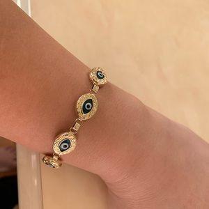 Jewelry - 14 KARAT  GOLD EVIL EYE 🧿🧿🧿BRACELET